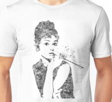 Audrey Hepburn Watercolor Pop Art  Unisex T-Shirt