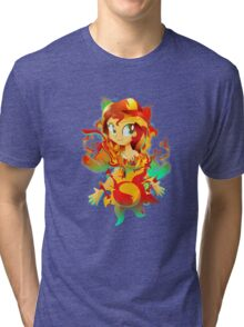 Human Sunset Shimmer Tri-blend T-Shirt