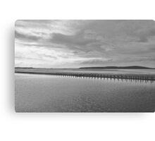 Weston-super-Mare black and white  Canvas Print