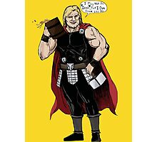 Thor's not Irish but he can drink like one Photographic Print