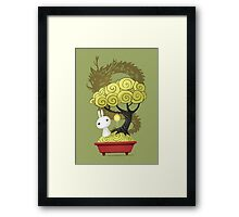Bonsai Bunny Framed Print