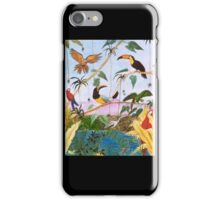 Toucans Macaw Parrot Tropical Birds Jungle Cathy Peek iPhone Case/Skin