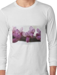 pink wisteria in spring Long Sleeve T-Shirt