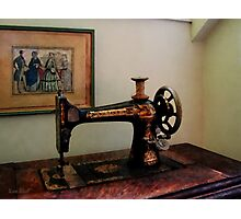Sewing Machine and Lithograph Photographic Print