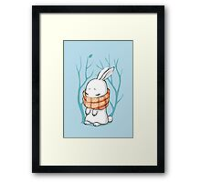 Winter Bunny Framed Print