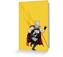 Thor Thunder God Greeting Card