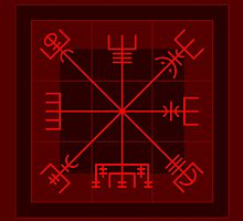 Vegvísir on Magic Square  by chromedreaming