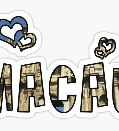 Love Macau Sticker