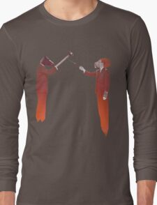 Horse Man and Lion Log Long Sleeve T-Shirt