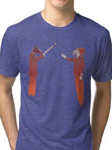 Horse Man and Lion Log Tri-blend T-Shirt