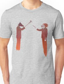 Horse Man and Lion Log Unisex T-Shirt