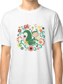 Russian FOLK  Green Squirrel. Classic T-Shirt