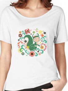 Russian FOLK  Green Squirrel. Women's Relaxed Fit T-Shirt