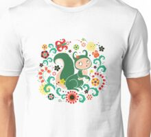 Russian FOLK  Green Squirrel. Unisex T-Shirt