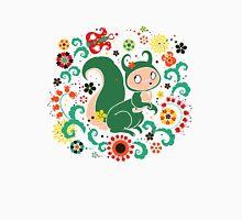 Russian FOLK  Green Squirrel. Unisex T-Shirt