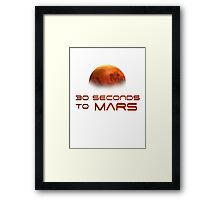 30 Seconds to Mars: T minus 30 seconds to impact Framed Print