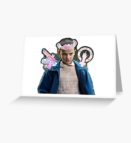 Eleven Stranger Things  Greeting Card