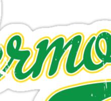 Vermont Script VINTAGE Green Sticker