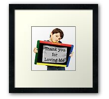 """Small child saying """"Thank You"""" Framed Print"""