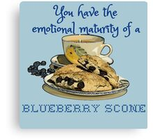 Blueberry Scone Canvas Print