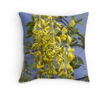 yellow flowers in spring Throw Pillow