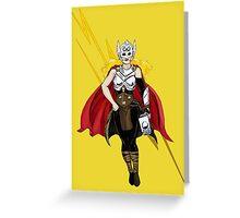 Thor Goddess Of Thunder Greeting Card