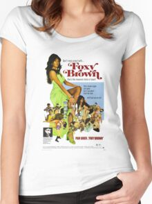FOXY BROWN Women's Fitted Scoop T-Shirt