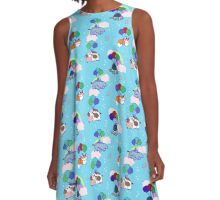 Balloon Animal Pattern A-Line Dress
