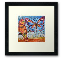 Parrot at The Office Framed Print