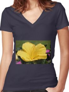 Upright Beauty Women's Fitted V-Neck T-Shirt