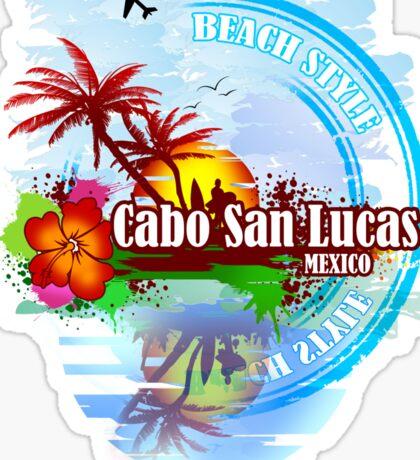 Cabo San Lucas Beach Style Sticker