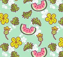 Watermelon Blossom Pattern by SaradaBoru