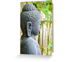 statue of buddha in zen garden Greeting Card