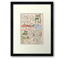 Infinite - Hand drawn, colored illustration Framed Print