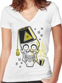 MR. BONES Women's Fitted V-Neck T-Shirt