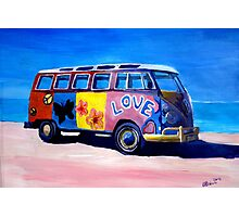 Surf Bus Series - The Love VW Bus Photographic Print