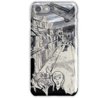 Scream Under the Bombs - Otto Dix x Edvard Munch iPhone Case/Skin