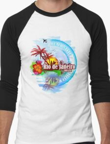 Rio de Janeiro Beach Style Men's Baseball ¾ T-Shirt