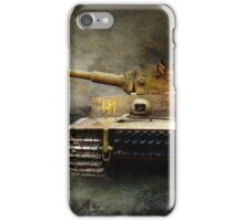 tiger tank faces T-34, eastern front iPhone Case/Skin