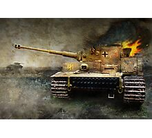 tiger tank faces T-34, eastern front Photographic Print
