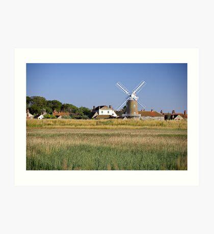 Cley Windmill Panorama Art Print