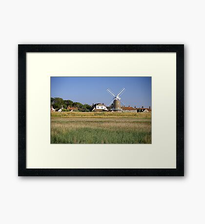 Cley Windmill Panorama Framed Print