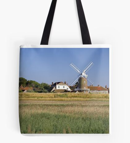 Cley Windmill Panorama Tote Bag