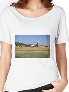Cley Windmill Panorama Women's Relaxed Fit T-Shirt