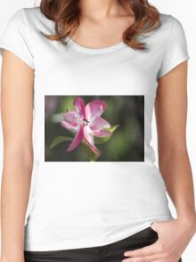 blooming magnolia flowers in spring Women's Fitted Scoop T-Shirt