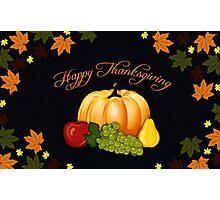 Happy Thanksgiving Photographic Print