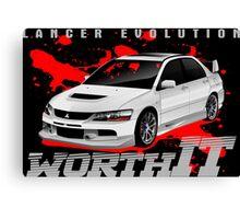Mitsubishi Lancer Evo (white) Canvas Print