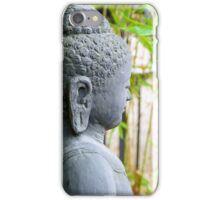 statue of buddha in zen garden iPhone Case/Skin