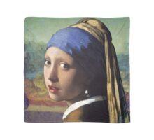 Joconde with a Pearl Earring - Vermeer x Da Vinci Scarf
