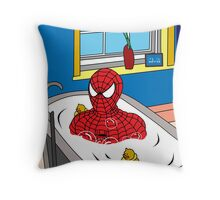bubble man   Throw Pillow